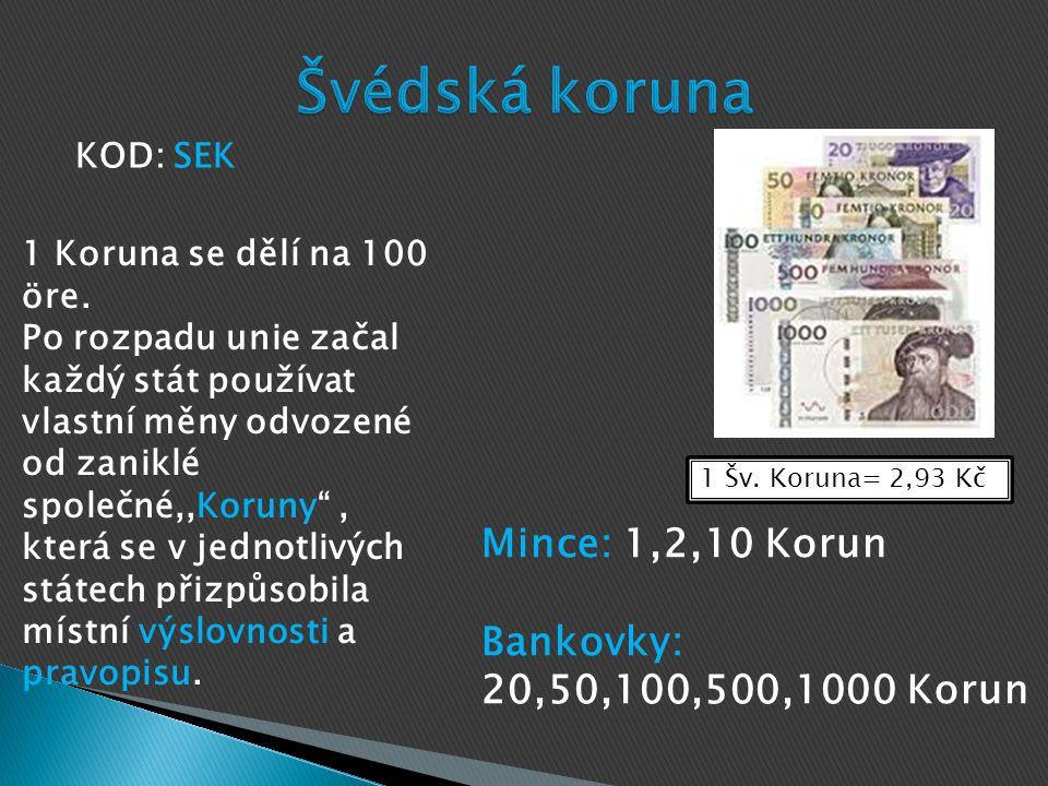 1 Forint= 0,09Kč Mince: 5,10,20,50,100,200 Forintů Bankovky: 500,1000,2000,5000,10000, 20000 Forintů KOD: HUF Jeden forint se dělí na 100 Fillérů Kupní hodnota fillérů je natolik nízká, že nejnižší používanou mincí je 5 forintů a neexistují fillerové mince.