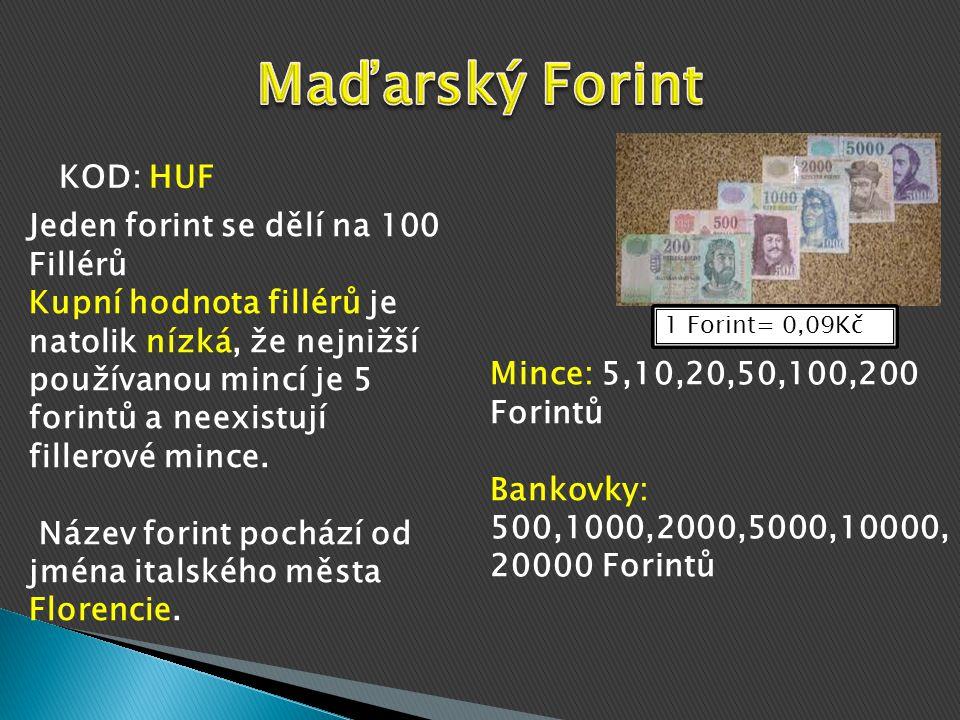 1 Polský Zlotý= 6,59 Kč Mince: 1,2,5,10,20,50 grošů 1,2,5 Zlotých Bankovky: 10,20,50,100,200 Zlotých KOD: PLN Do oběhu byl nově uveden v roce 1924 peněžní reformou, kterou nahradil polskou marku, Dělí se na 100 Grošů