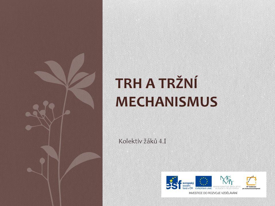 TRH A TRŽNÍ MECHANISMUS Kolektiv žáků 4.I