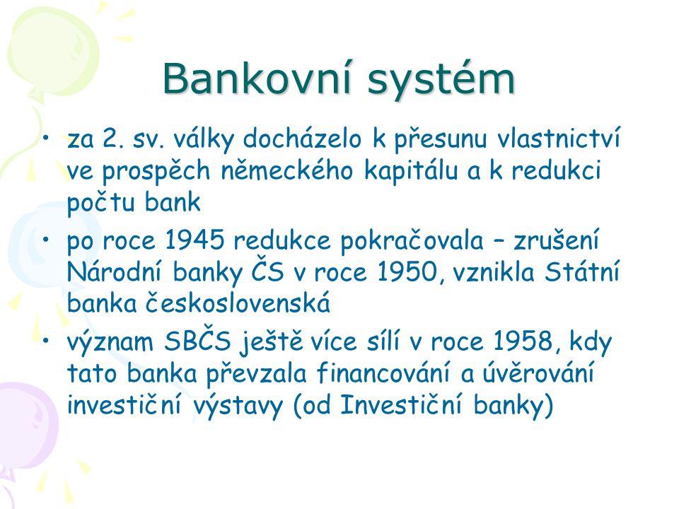 Bankovní systém za 2.sv.