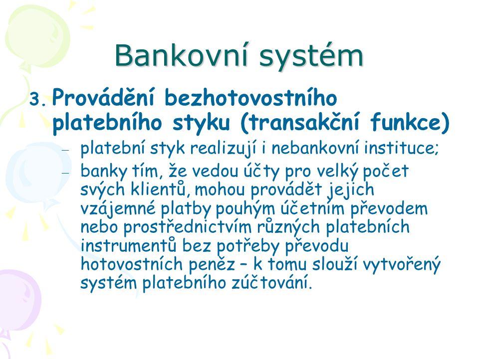 Bankovní systém 3.
