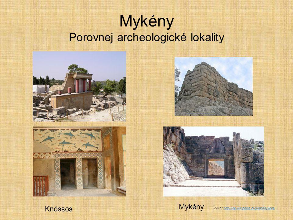 Mykénská civilizace paláce budované podle krétských vzorů centra obehnána mohutnými hradbami kamenné kvádry kladené na sebe hmotnost 10 t označení KYKLOPSKÉ ZDIVO Kdo byli bájní Kyklopové.