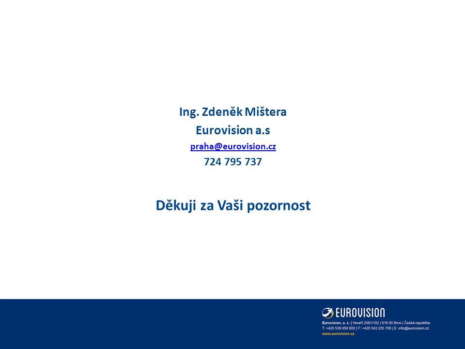 Ing. Zdeněk Mištera Eurovision a.s praha@eurovision.cz 724 795 737 Děkuji za Vaši pozornost