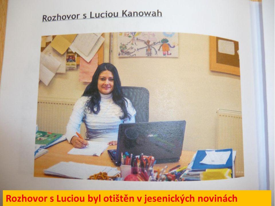 Rozhovor s Luciou byl otištěn v jesenických novinách