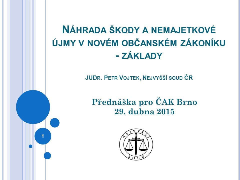 Náhrada škody a nemajetkové újmy zákon č.89/2012 Sb.
