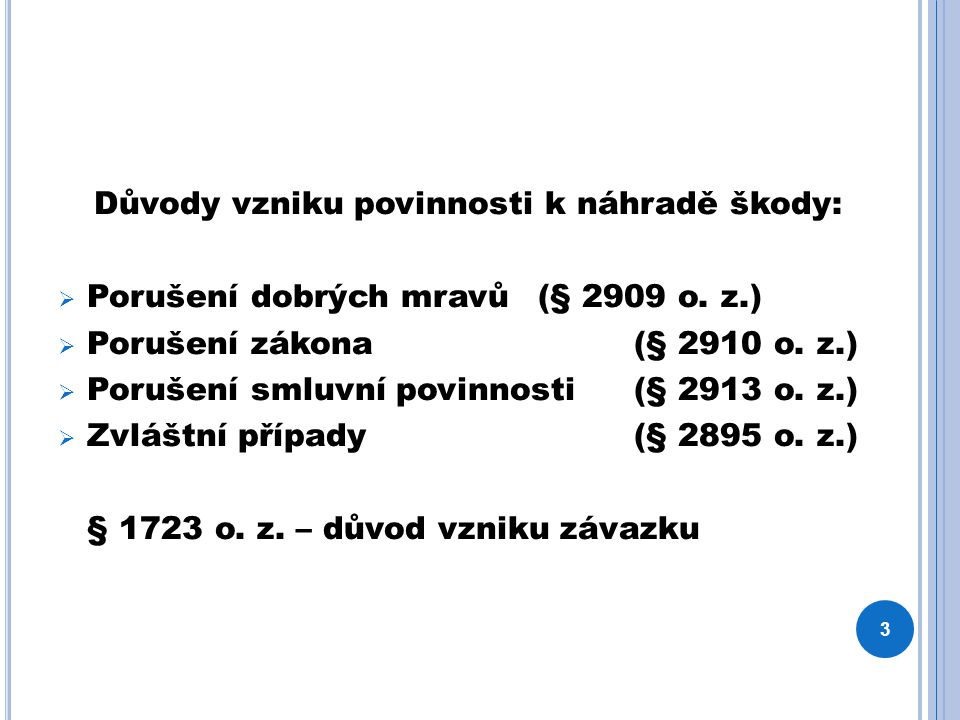 N ÁHODA § 2904 o.z.