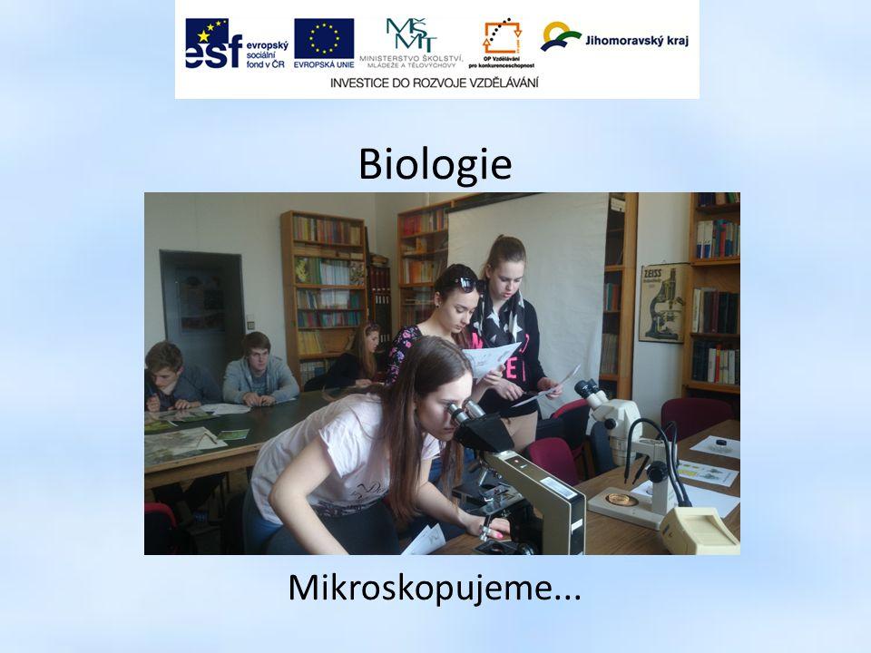 Biologie Mikroskopujeme...