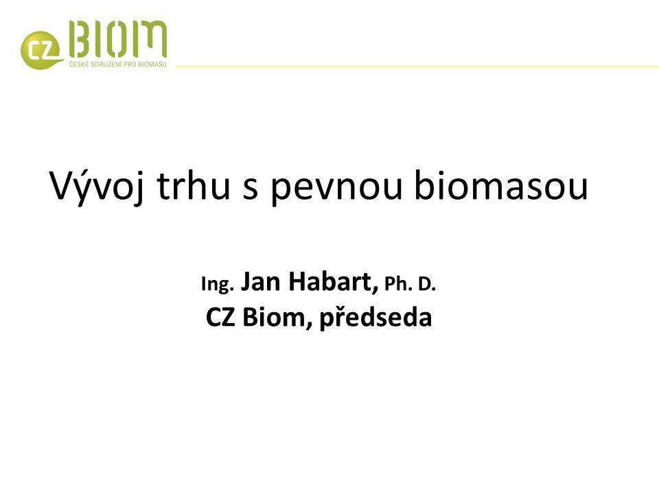 Vývoj trhu s pevnou biomasou Ing. Jan Habart, Ph. D. CZ Biom, předseda