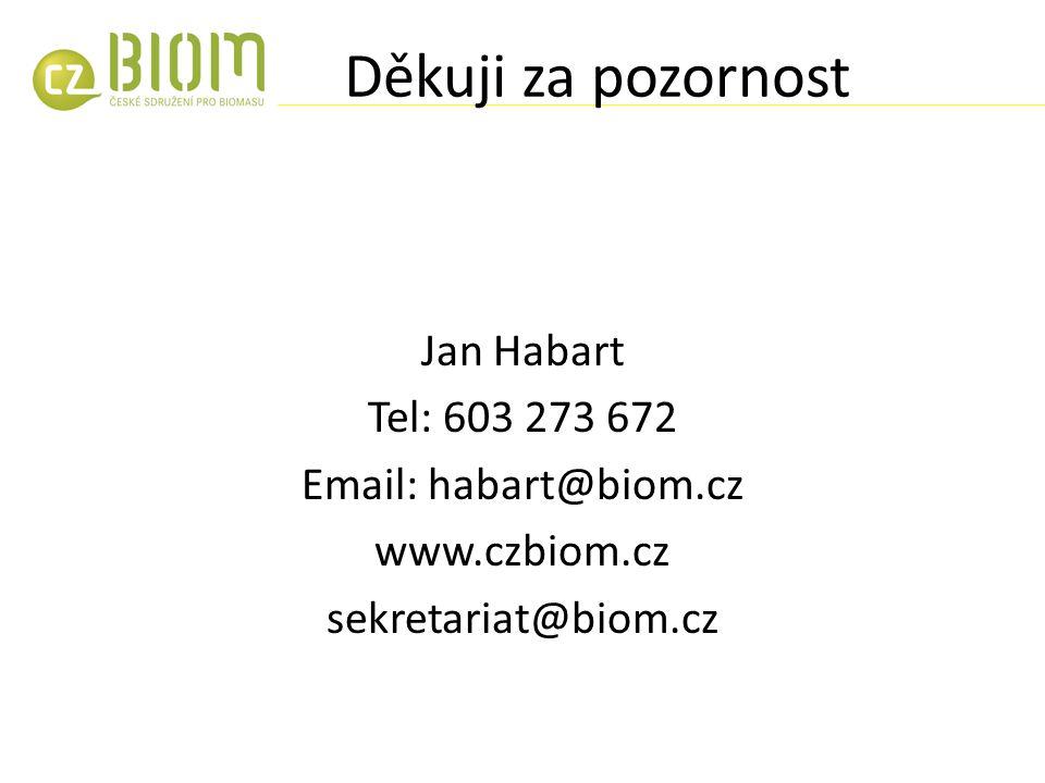 Děkuji za pozornost Jan Habart Tel: 603 273 672 Email: habart@biom.cz www.czbiom.cz sekretariat@biom.cz