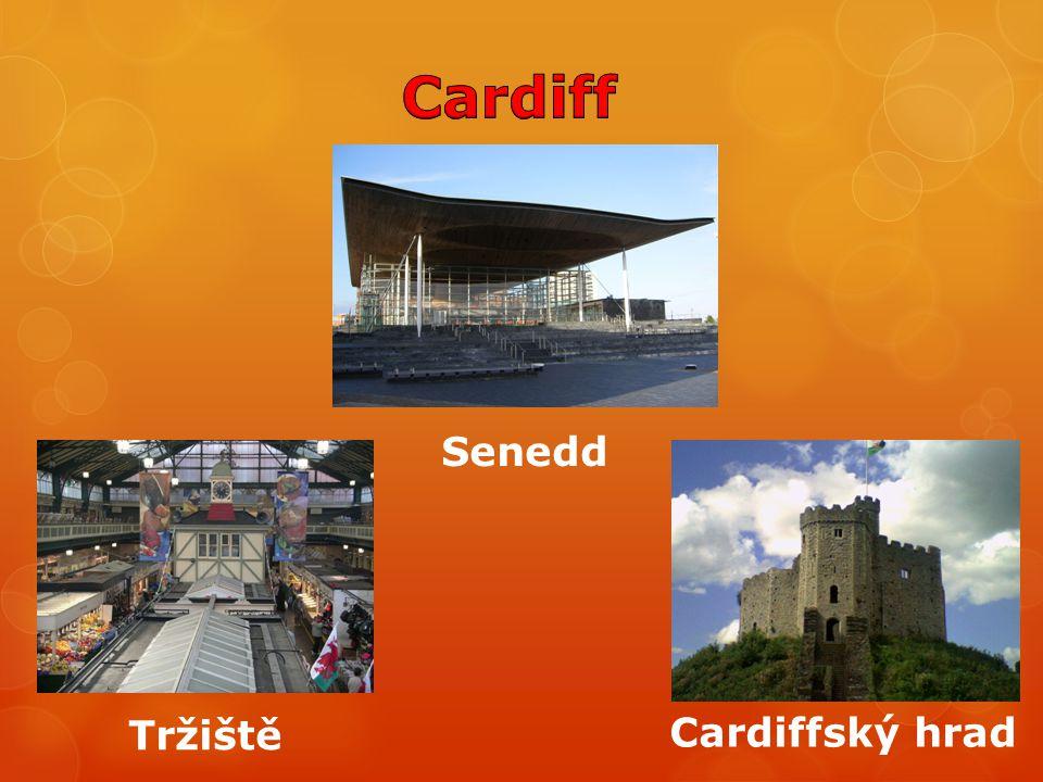 Senedd Cardiffský hrad Tržiště