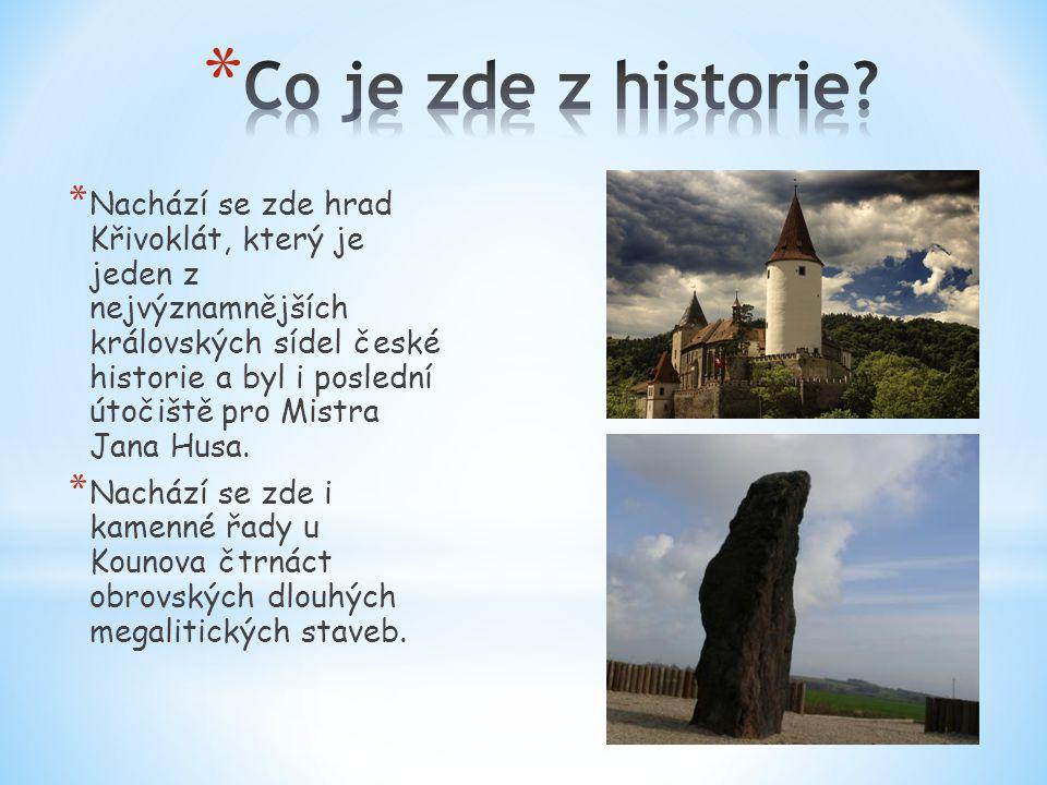 * Nachází se zde hrad Křivoklát, který je jeden z nejvýznamnějších královských sídel české historie a byl i poslední útočiště pro Mistra Jana Husa. *