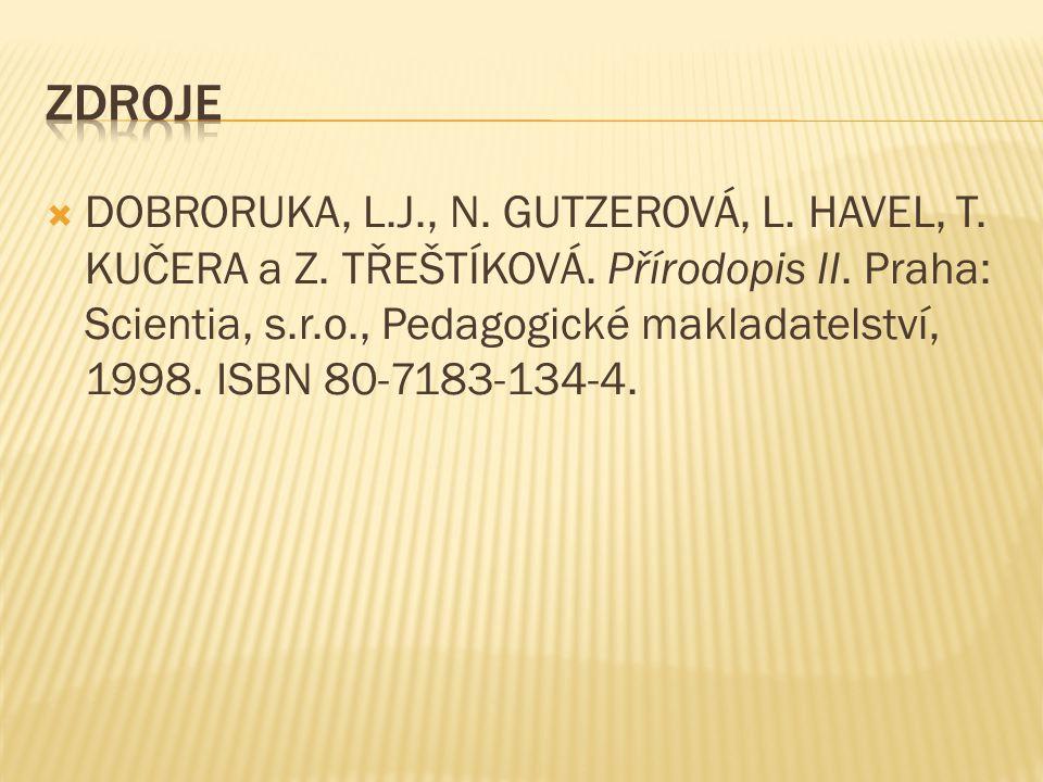  DOBRORUKA, L.J., N. GUTZEROVÁ, L. HAVEL, T. KUČERA a Z.