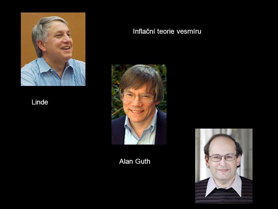 Alan Guth Linde Inflační teorie vesmíru