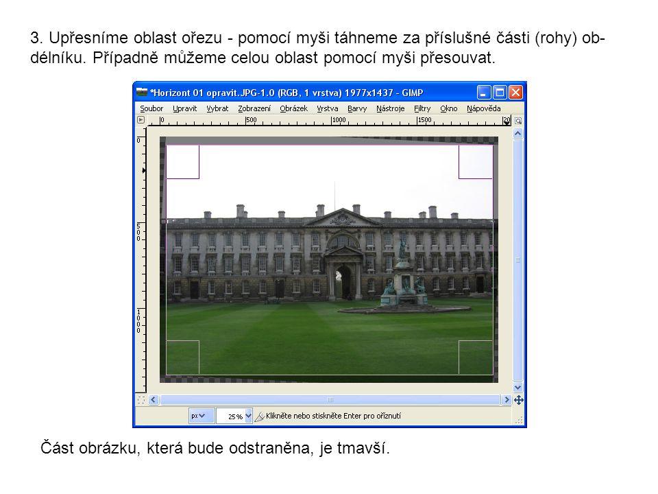 4.V poli Velikost je nastaveno budoucí rozlišení obrázku.