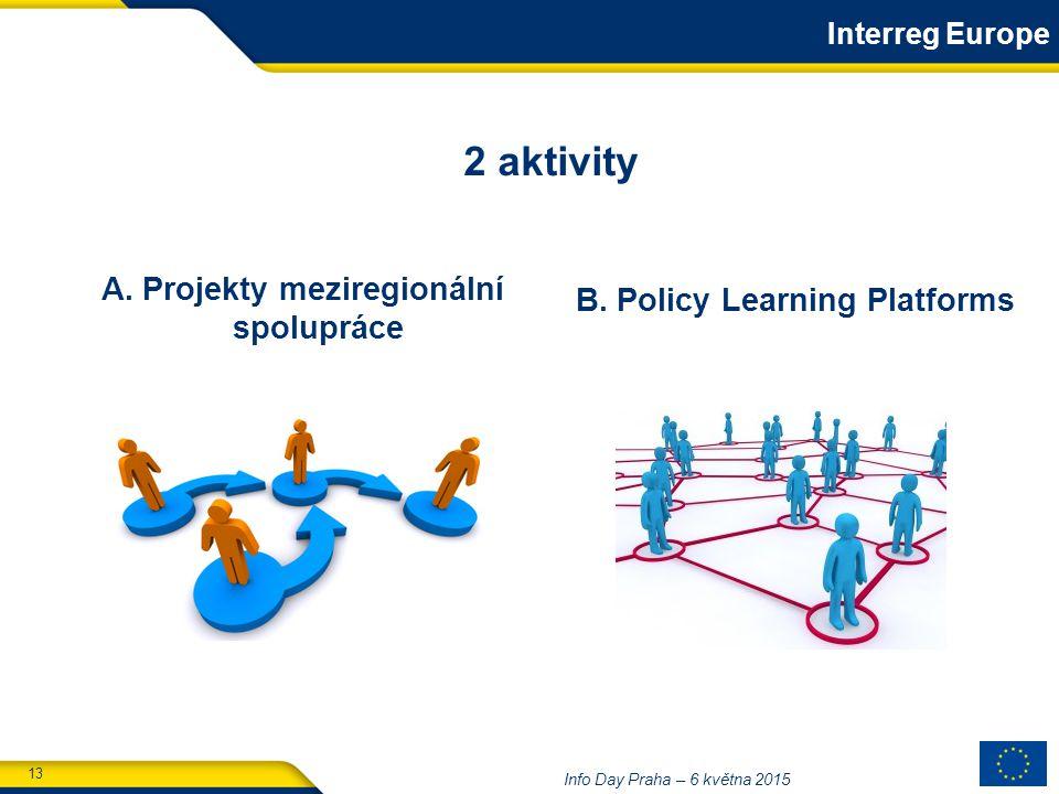 13 Info Day Praha – 6 května 2015 B. Policy Learning Platforms A.