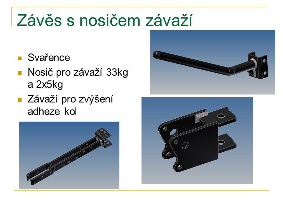 Závěs s nosičem závaží Svařence Nosič pro závaží 33kg a 2x5kg Závaží pro zvýšení adheze kol