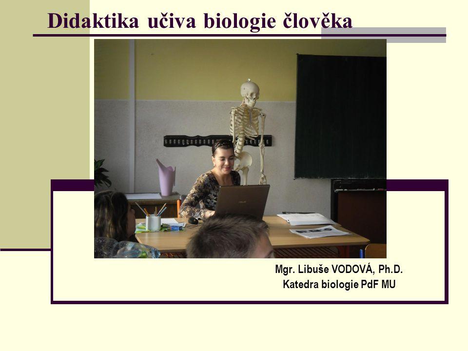 Didaktika učiva biologie člověka Mgr. Libuše VODOVÁ, Ph.D. Katedra biologie PdF MU