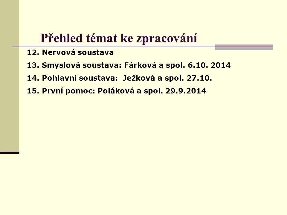 Přehled skupin Poláková a spol.: Poláková, Jaskulková, Kyjovská Fárková a spol.: Fárková, Pekáčová, Krhovská Folovský a spol.: Folovský, Čápková, Jandásková, Jelínková Ježková a spol.: Světlíková, Drozdová, Ježková Králíková a spol.: Králíková, Podborská, Mazáková Krejčí a spol.: Krejčí, Adámková, Žáková.