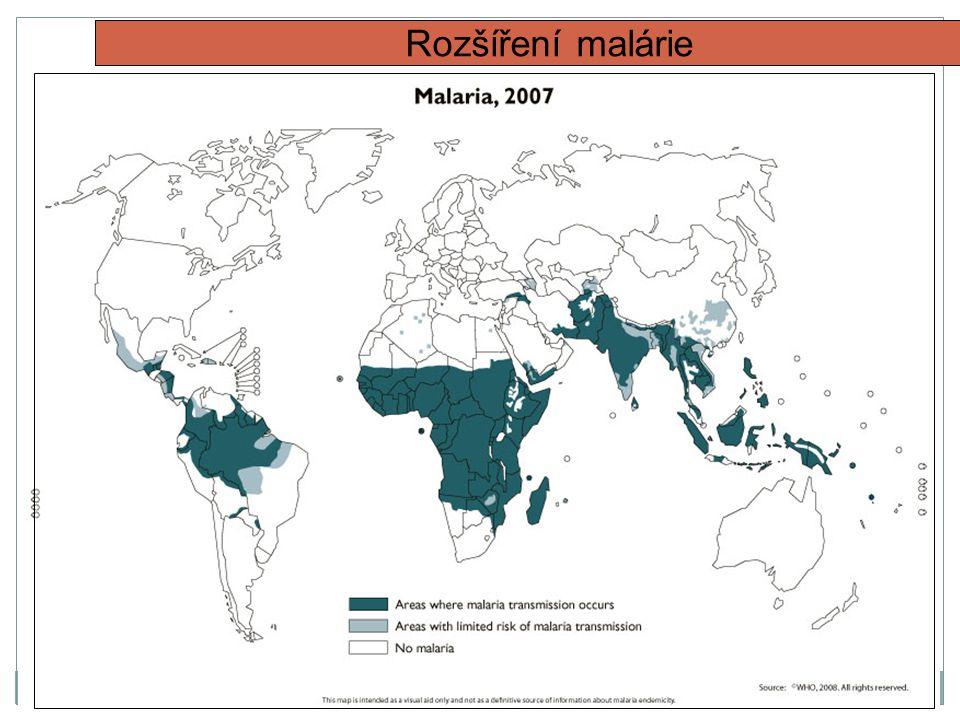 Rozšíření malárie