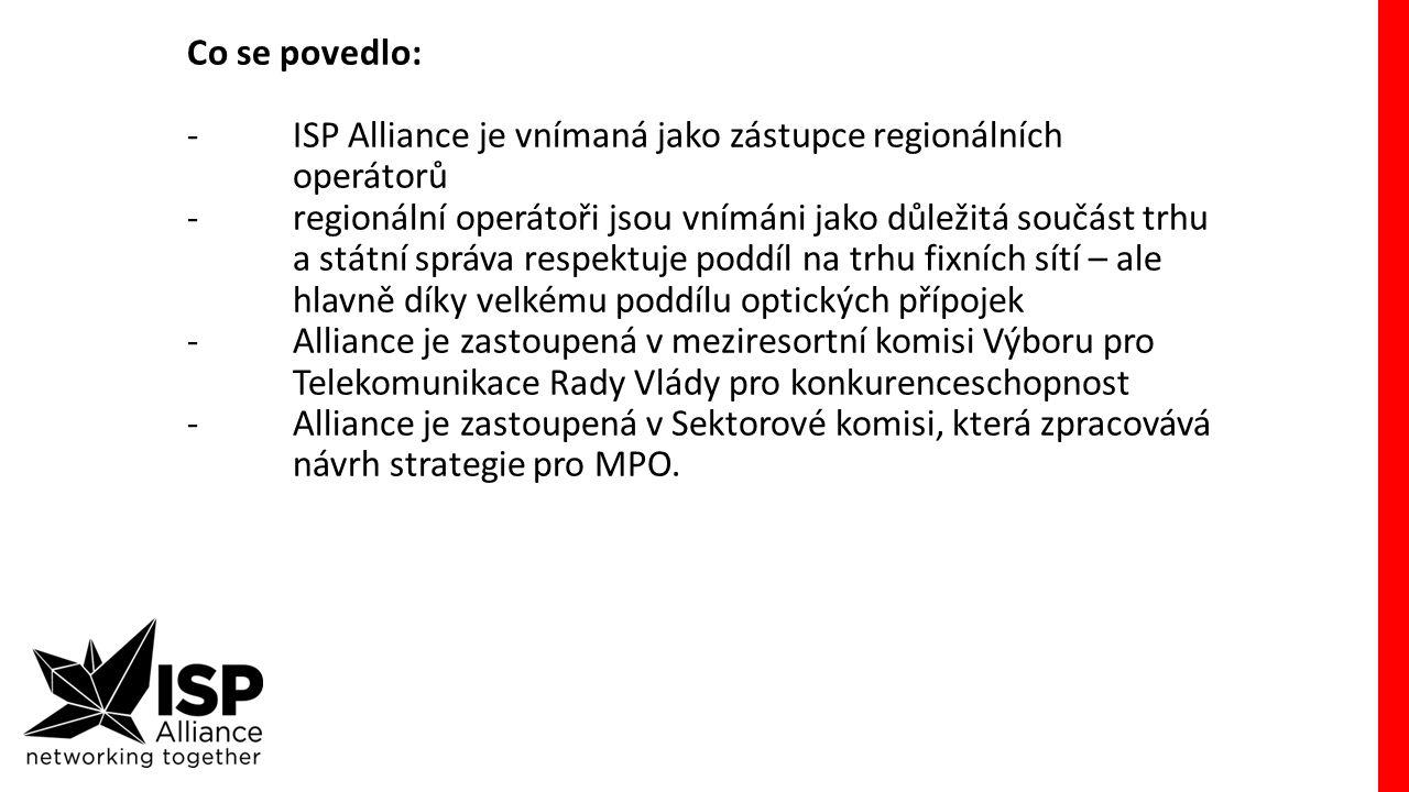 ISP Alliance názorově v těchto komisích a výborech, a i při jednáních s autoritami hájí názor A-B-C:
