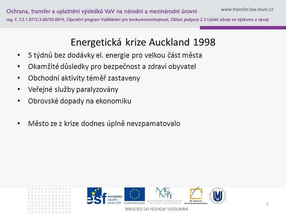 Energetická krize Auckland 1998 5 týdnů bez dodávky el.