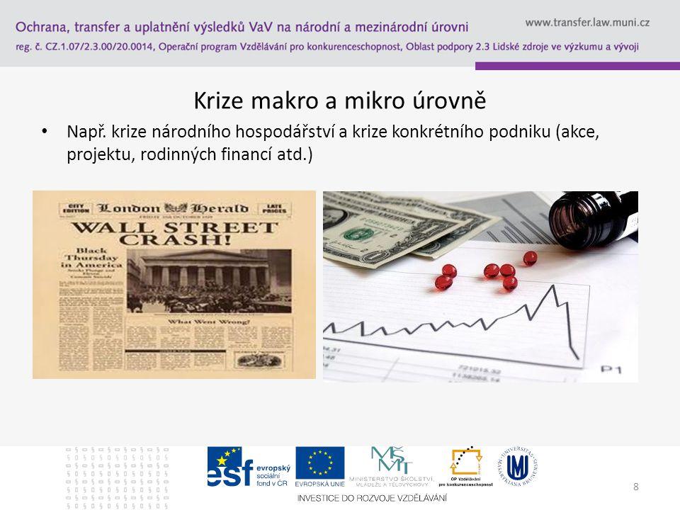 """Krize Z řeckého """"krino – vybírat, posuzovat, měřit mezi opačnými variantami (život-smrt) Vždy souvisí s rizikem silných negativních důsledků – škody na zdraví, životech, majetku – nebo i morální dopady Krizové řízení: – Ex ante – Interim – Ex post V případě dobrého zvládnutí krize mohou být její důsledky i pozitivní 9"""
