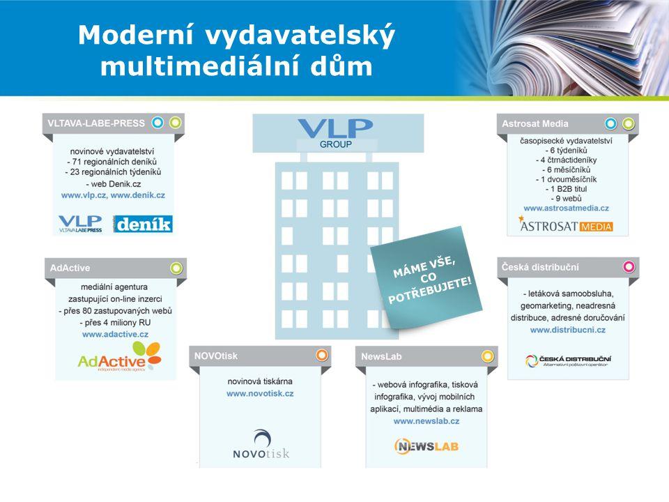 Moderní vydavatelský multimediální dům MÁME VŠE, CO POTŘEBUJETE!