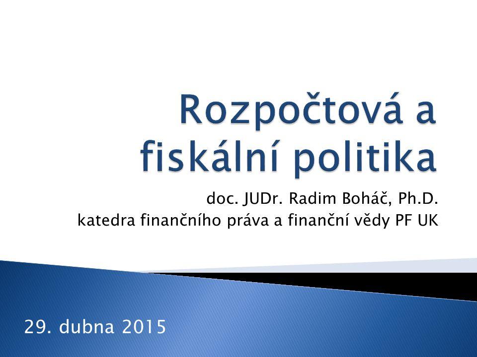 doc. JUDr. Radim Boháč, Ph.D. katedra finančního práva a finanční vědy PF UK 29. dubna 2015