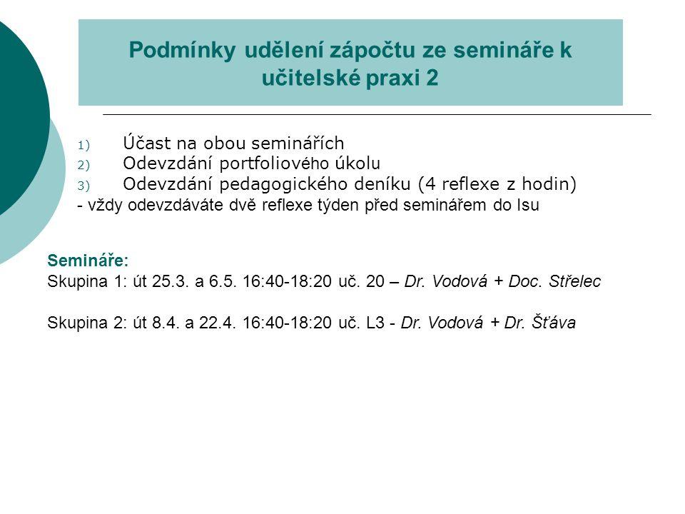 portfoliové úkoly 1) Metody a strategie výuky: 2) Jakou mocí ve školní třídě disponuji.