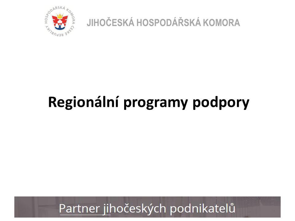 Regionální programy podpory
