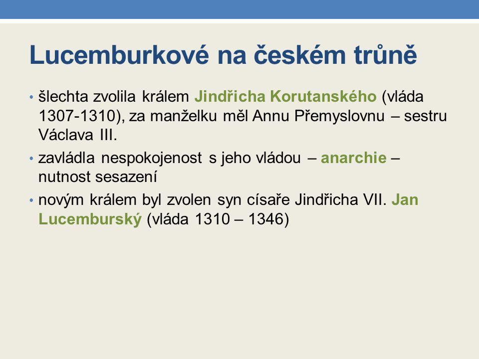 Zápis do sešitu Lucemburkové na českém trůně nelucemburští králové Rudolf Habsburský na český trůn po smrti Václava III.