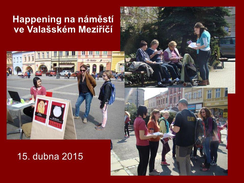 Happening na náměstí ve Valašském Meziříčí 15. dubna 2015