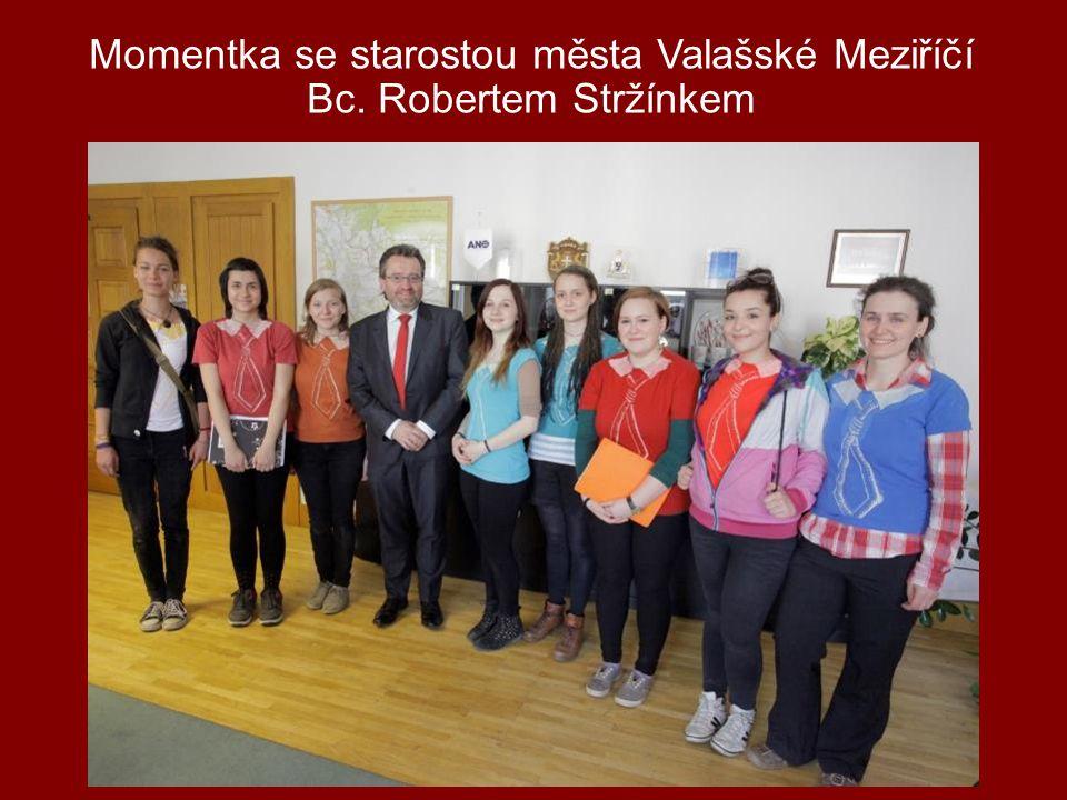 Momentka se starostou města Valašské Meziříčí Bc. Robertem Stržínkem