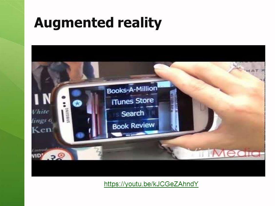 Augmented reality https://youtu.be/kJCGeZAhndY