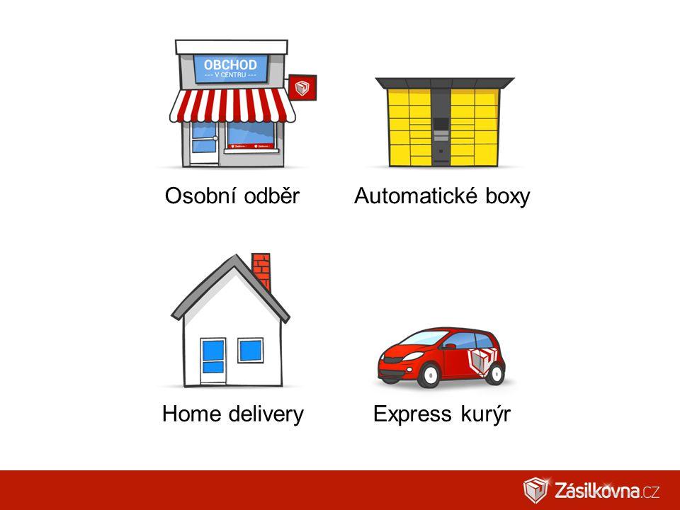 Osobní odběrAutomatické boxy Home deliveryExpress kurýr