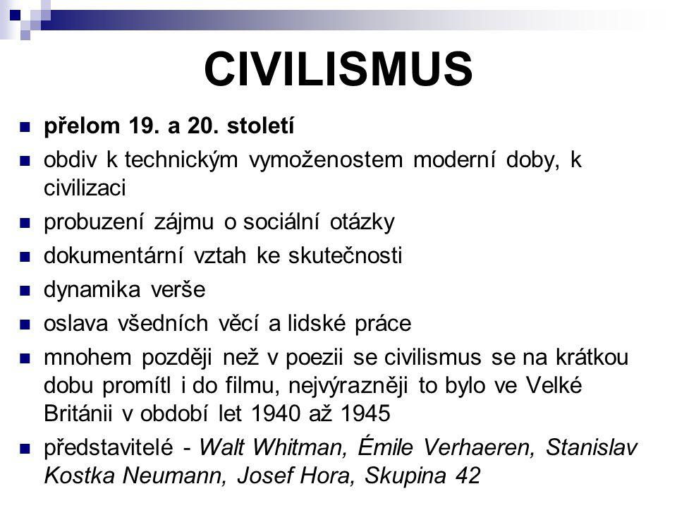 CIVILISMUS přelom 19.a 20.