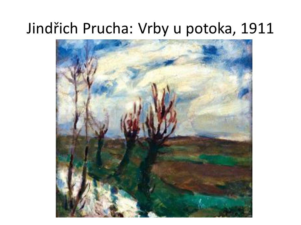 Jindřich Prucha: Vrby u potoka, 1911