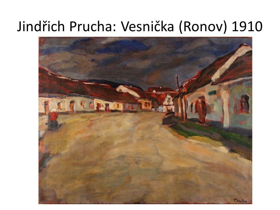 Jindřich Prucha: Vesnička (Ronov) 1910