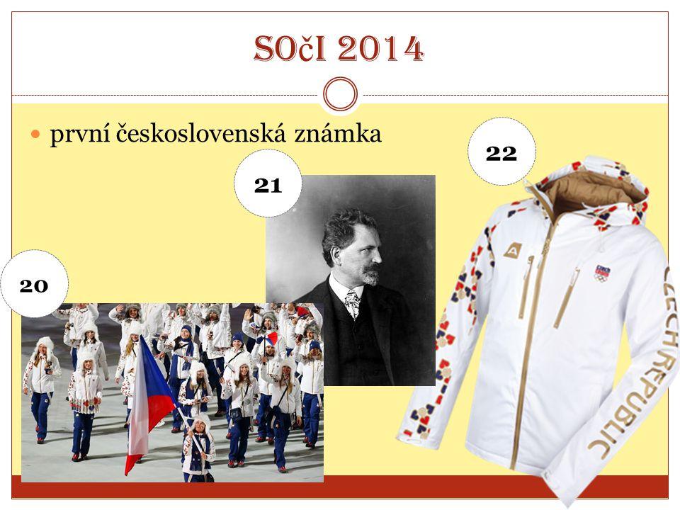 So č i 2014 první československá známka 20 21 22