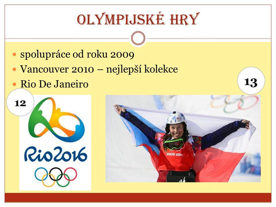 Olympijské hry spolupráce od roku 2009 Vancouver 2010 – nejlepší kolekce Rio De Janeiro 12 13