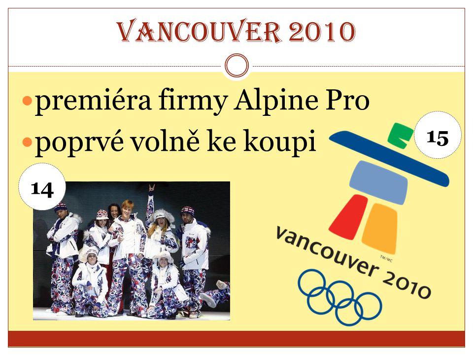 Vancouver 2010 premiéra firmy Alpine Pro poprvé volně ke koupi 14 15