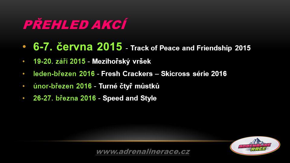 PŘEHLED AKCÍ 6-7. června 2015 - Track of Peace and Friendship 2015 19-20. září 2015 - Mezihořský vršek leden-březen 2016 - Fresh Crackers – Skicross s
