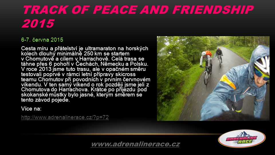TRACK OF PEACE AND FRIENDSHIP 2015 6-7.