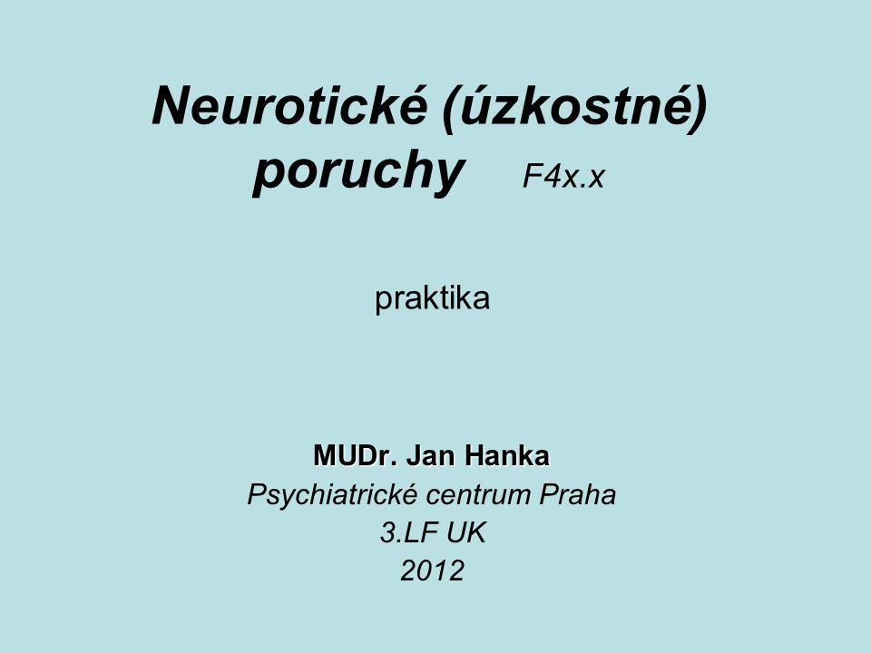 Neurotické (úzkostné) poruchy F4x.x MUDr.