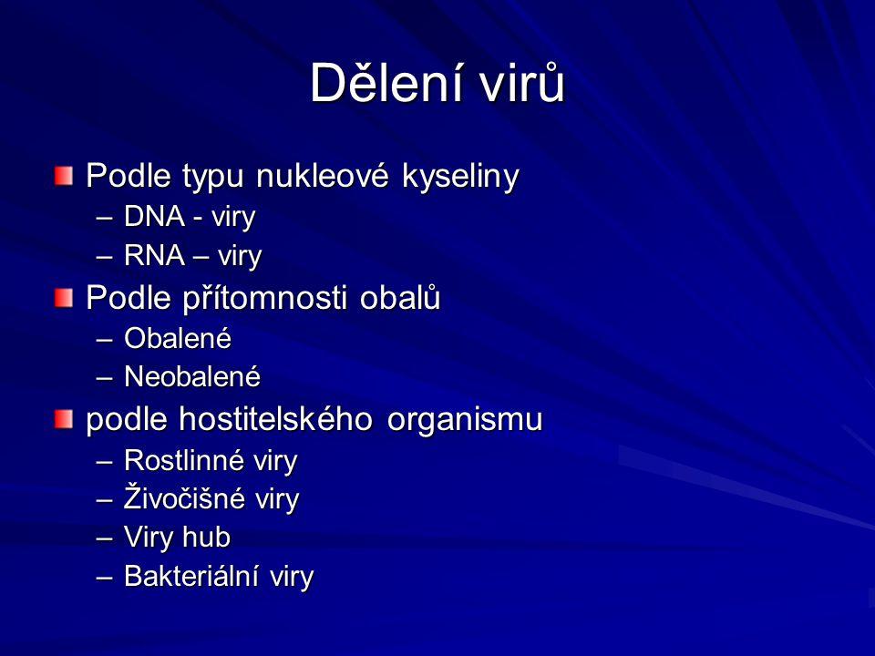 """Skrytá = latentní infekce Některé živočišné viry po proniknutí do buňky začlení svou DNA do jaderné DNA buňky - stane se součástí jejího genomu (soubor všech genů) Provirus = virová DNA, která je součástí DNA hostitelské buňky - během množení buňky je předávána dalším buňkám = virogenní cyklus viru Po určité době se virus """"vyváže a začne lytický cyklus – zánik buněk Virus oparu (ze skupiny herpesvirů) – horečka, záření, stres - podnět k vyvázání"""