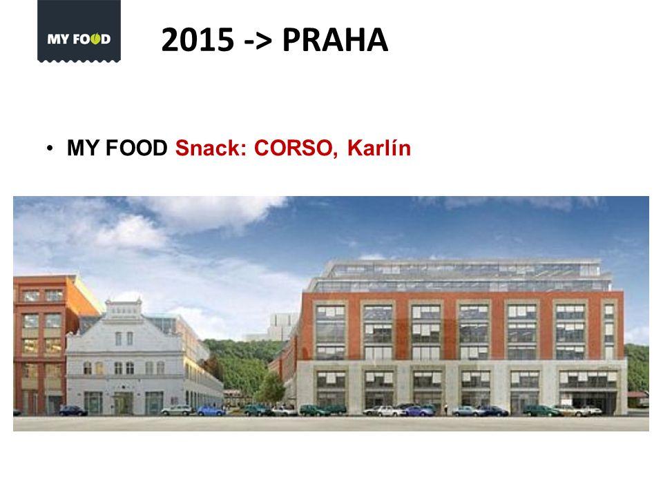 MY FOOD Snack: CORSO, Karlín 2015 -> PRAHA