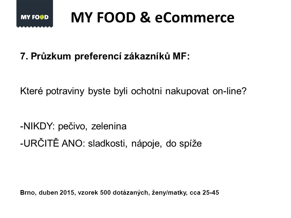 MY FOOD & eCommerce 7.