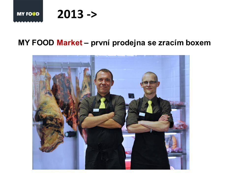 MY FOOD Market – první prodejna se zracím boxem 2013 ->