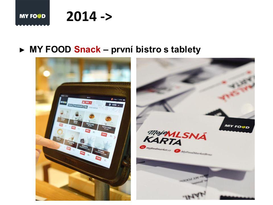 ► MY FOOD Snack – první bistro s tablety 2014 ->