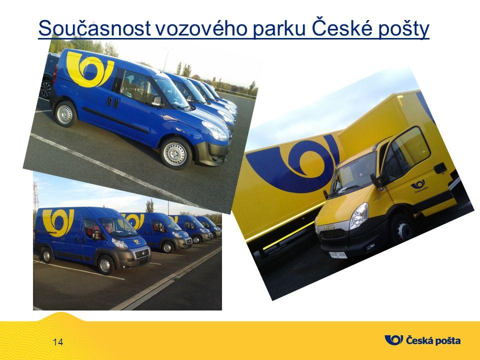 14 Současnost vozového parku České pošty